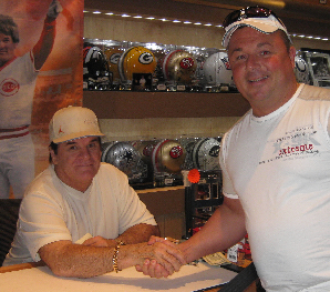 Johnny Salami with Pete Rose
